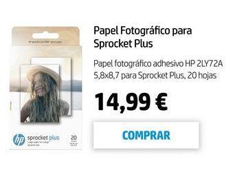 Oferta de Papel fotográfico HP por 14,99€
