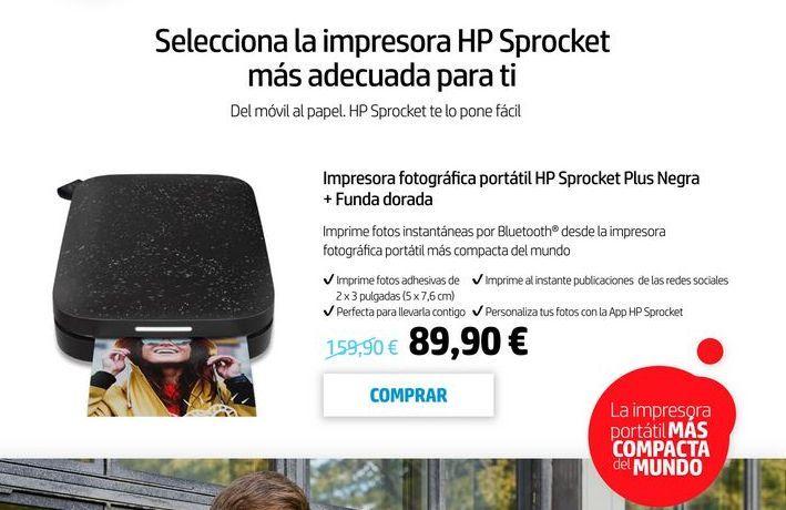 Oferta de Impresoras HP por 89,9€
