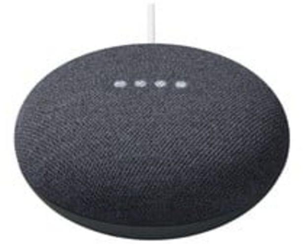 Oferta de Altavoz inteligente GOOGLE Nest Mini Carbón GA00781-ES (2ª generación), control por voz, Wi-Fi 802.11, Bluetooth 5.0, Google Cast. por 39€