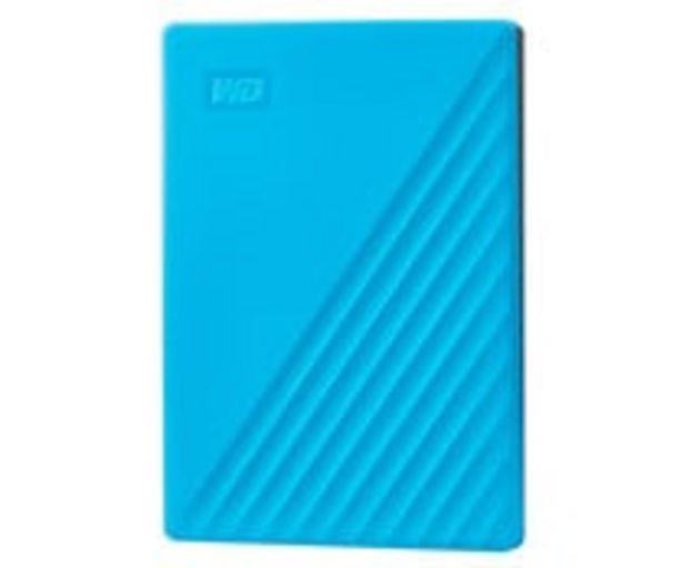 Oferta de Disco duro externo 2TB WD My Passport azul, tamaño 2,5, conexión USB 3.0. por 85,9€