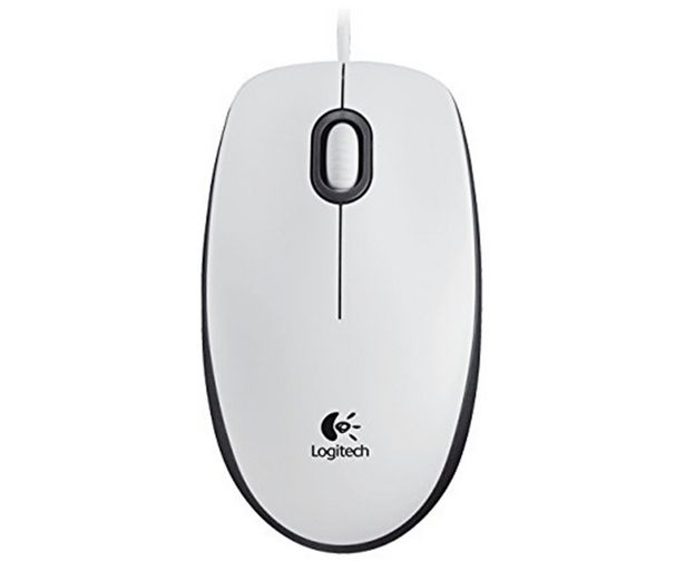 Oferta de Ratón optico con cable LOGITECH M 100, blanco, 3 botones, 1000 dpi, conexión USB. por 8,5€