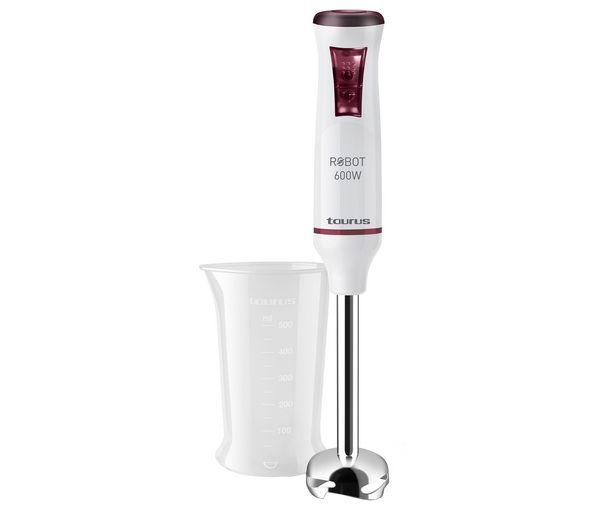 Oferta de Batidora de mano TAURUS Robot 600 inox, 600W, 20 velocidades, incluye vaso. por 17,9€