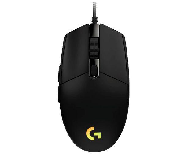 Oferta de Ratón gaming LOGITECH G203 Lightsync negro, iluminación RGB, 6 botones programables, 8000dpi max, conexión Usb. por 29,8€