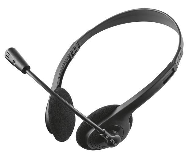 Oferta de Auriculares para PC TRUST PRIMO, micrófono flexible y conexión jack 3.5mm. por 7,9€