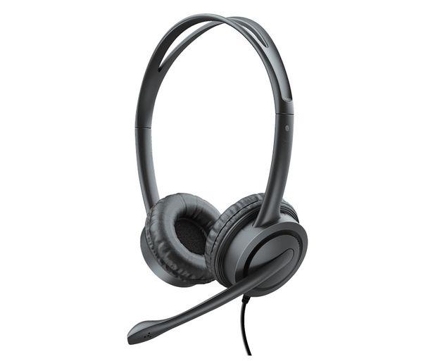 Oferta de Auriculares PC TRUST Mauro, con micrófono, control remoto, conexión Usb, cable 2,5m. por 28,9€
