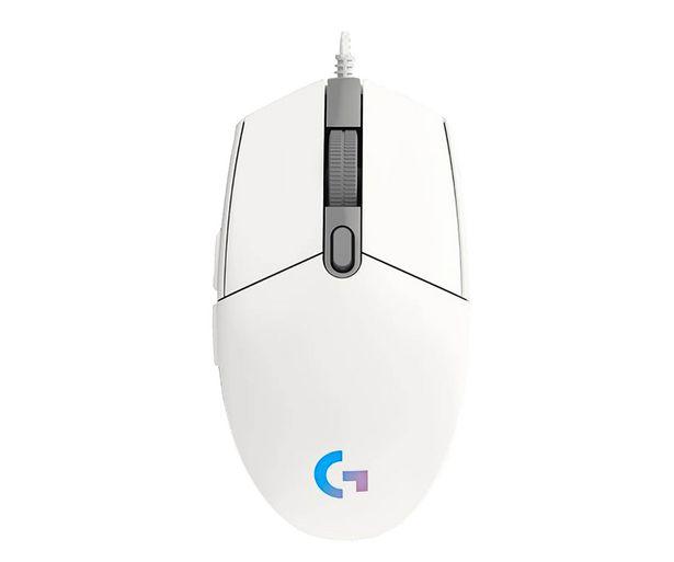 Oferta de Ratón gaming LOGITECH G203 Lightsync blanco, iluminación RGB, 6 botones programables, 8000dpi max, conexión Usb. por 29,99€