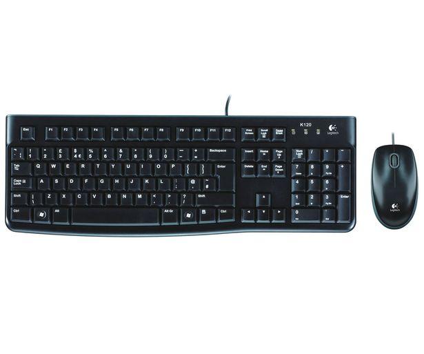 Oferta de Set de teclado y ratón LOGITECH Desktop MK120, conexión Usb, por 17,4€