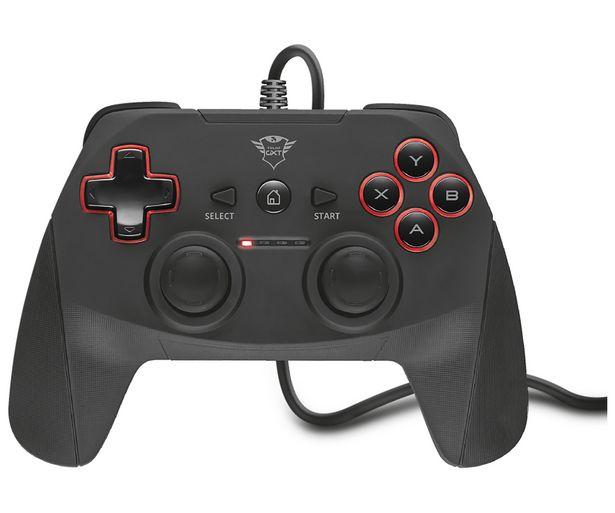 Oferta de Mando gaming TRUST GXT 540 Yula, 13 botones, 2 joysticks, cable 3m., Compatible PC / PS3. por 19,9€
