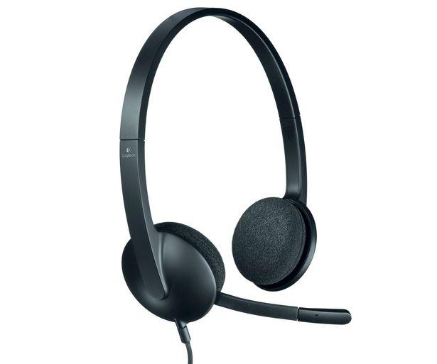 Oferta de Auricular PC tipo Diadema LOGITECH USB HEADSET H340 , con cable y micrófono por 36,9€