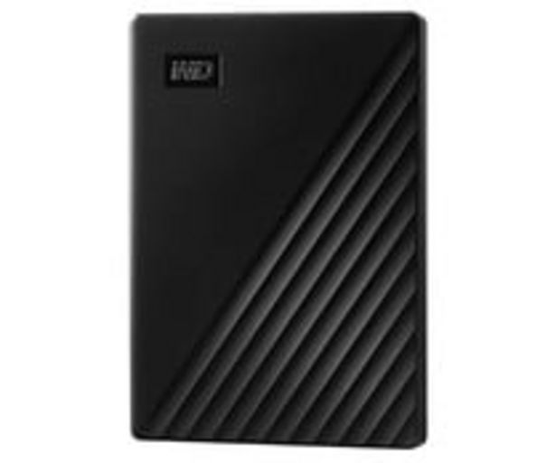 Oferta de Disco duro externo 1TB WD My Passport negro, tamaño 2,5, conexión USB 3.0. por 74,9€