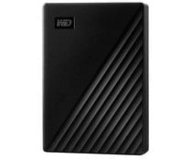 Oferta de Disco duro externo 4TB WD My Passport negro, tamaño 2,5, conexión USB 3.0. por 111€