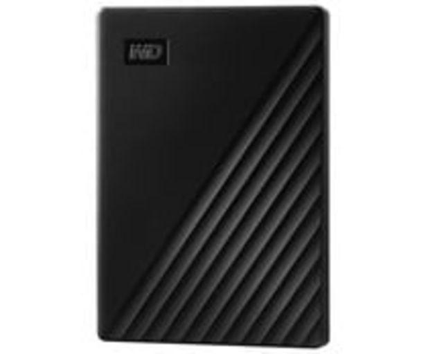 Oferta de Disco duro externo 2TB WD My Passport negro, tamaño 2,5, conexión USB 3.0. por 89,9€