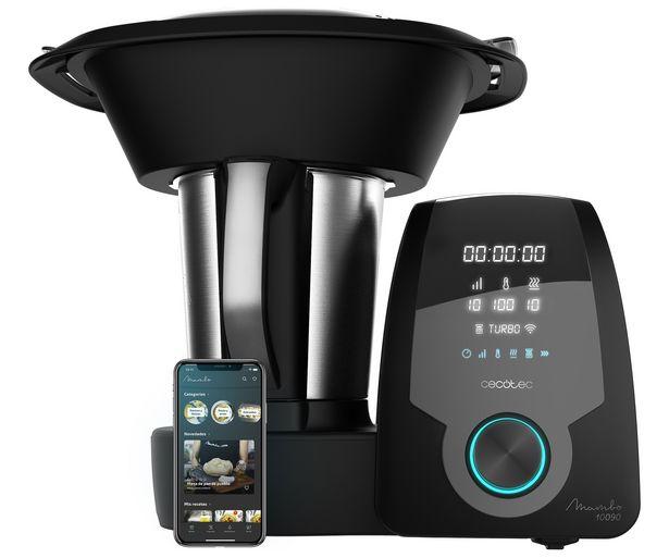 Oferta de Robot de cocina CECOTEC Mambo 10090 con APP, 1700W, 3,3 L., temperatura 120ºC, 30 funciones, bascula, jarra cerámica. por 349€