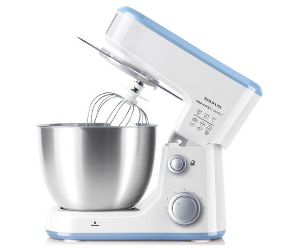 Oferta de Batidora amasadora TAURUS Mixing Chef Compact, 500W, 5 funciones, 6 velocidades, bol de 4L. por 99,9€