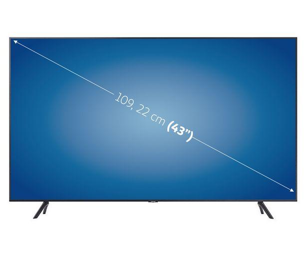 """Oferta de Televisión 109,22 cm (43"""") LED SAMSUNG 43TU7105 4K, SMART TV, WIFI, BLUETOOTH, TDT T2, USB reproductor y grabador, 2HDMI, 2000HZ. por 399€"""
