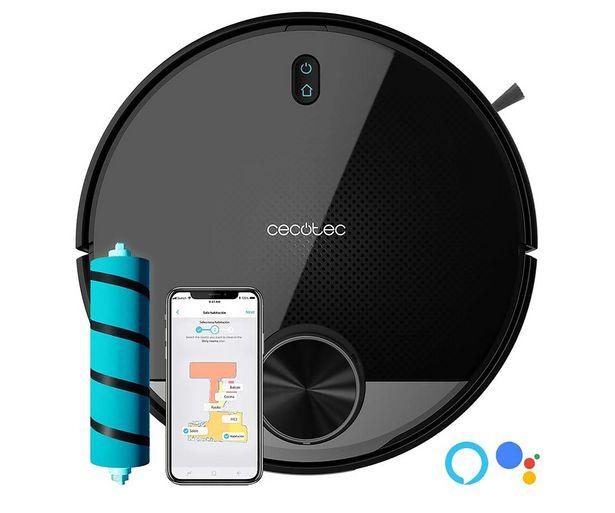 Oferta de Robot aspirador CECOTEC Conga 3390, Wi-Fi APP control, 2300Pa, 10 modos, programable, asistente virtual, fregado. por 289€