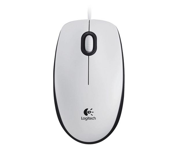Oferta de Ratón óptico con cable LOGITECH M100, blanco, 3 botones, 1000dpi, conexión Usb. por 8,5€