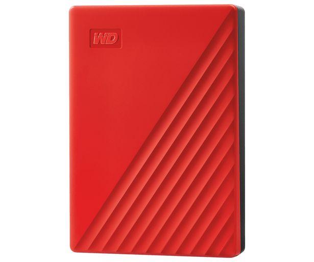 Oferta de Disco duro externo 4TB WD My Passport rojo, tamaño 2,5, conexión USB 3.0. por 117€