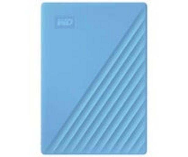 Oferta de Disco duro externo 4TB WD My Passport azul, tamaño 2,5, conexión USB 3.0. por 111€