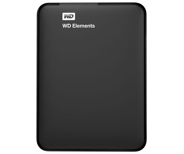"""Oferta de Disco duro externo 750GB WESTERN DIGITAL Elements, negro, tamaño 2,5"""", Usb 3.0 y 2.0. por 59,9€"""