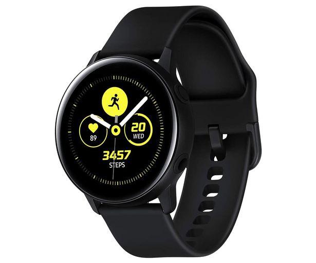 Oferta de Smartwatch SAMSUNG Galaxy Watch Active SM-R500NZKAPHE negro, 40mm, notificaciones, medidor actividad, pulsómetro, Wi-Fi, GPS, Bluetooth. por 119€