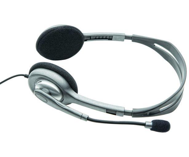 Oferta de Auriculares tipo Diadema LOGITECH H110 con cable y micrófono por 19,9€