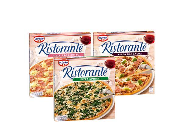 Oferta de Pizzas finas Ristorante diferentes variedades por