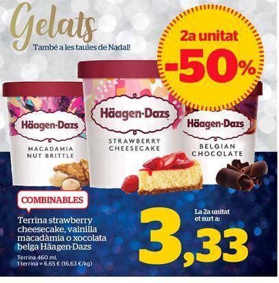 Oferta de Tarrina de helado Häagen-Dazs por 3,33€