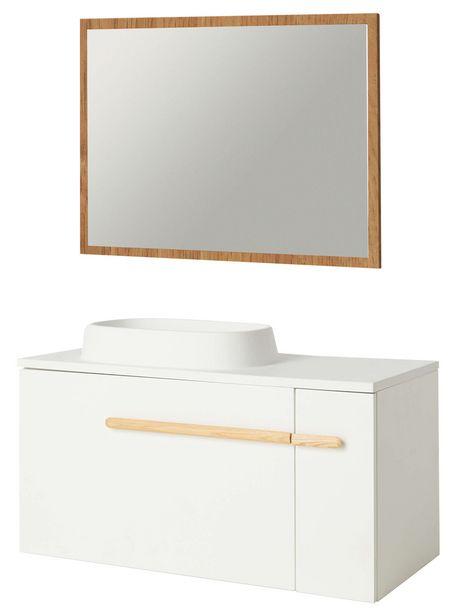 Oferta de CONJUNTO DE BAÑO: Mueble de baño + lavabo + espejo por 159€