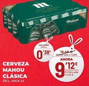 Oferta de Cerveza Mahou por 9,12€