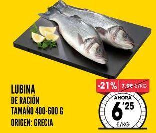 Oferta de Lubina por 6,25€
