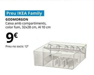 Oferta de Caja con compartimentos por 9€