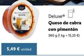 Oferta de Queso de cabra Deluxe por 5,49€