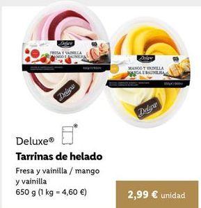 Oferta de Tarrina de helado Deluxe por 2,99€