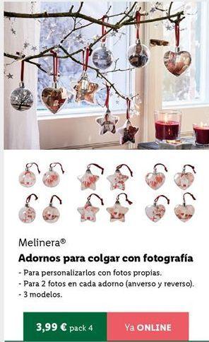 Oferta de Adornos de Navidad melinera por 3,99€