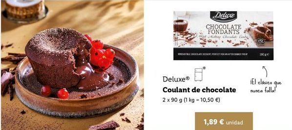 Oferta de Coulant de chocolate Deluxe por 1,89€