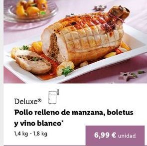 Oferta de Pollo relleno Deluxe por 6,99€