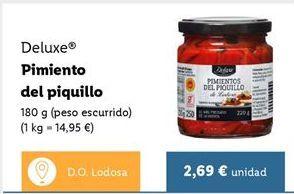 Oferta de Pimientos del piquillo Deluxe por 2,69€