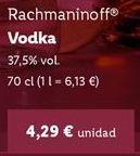 Oferta de Vodka por 4,29€