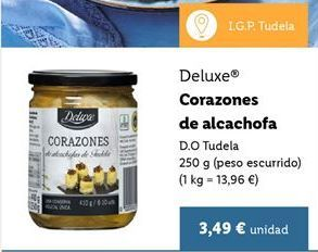 Oferta de Corazones de alcachofa Deluxe por 3,49€