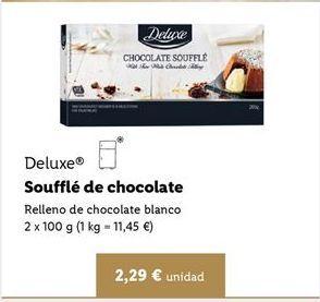 Oferta de Coulant de chocolate Deluxe por 2,29€