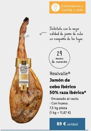 Oferta de Jamón de cebo por 89€