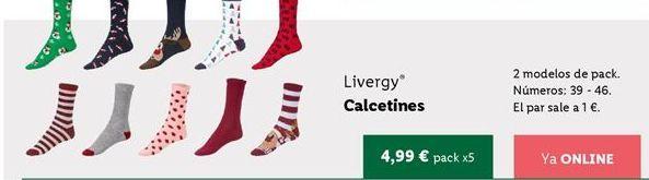 Oferta de Calcetines Livergy por 4,99€