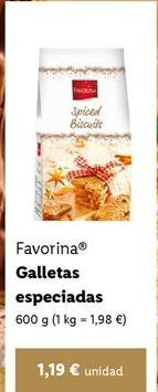 Oferta de Galletas Favorina por 1,19€