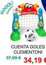 Oferta de Portería de fútbol Clementoni por 34,19€