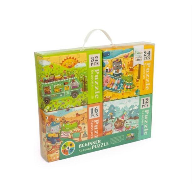 Oferta de Pack de 4 puzzles de las estaciones por 19,95€
