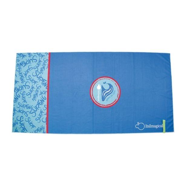 Oferta de Toalla microfibra de color azul por 9,95€