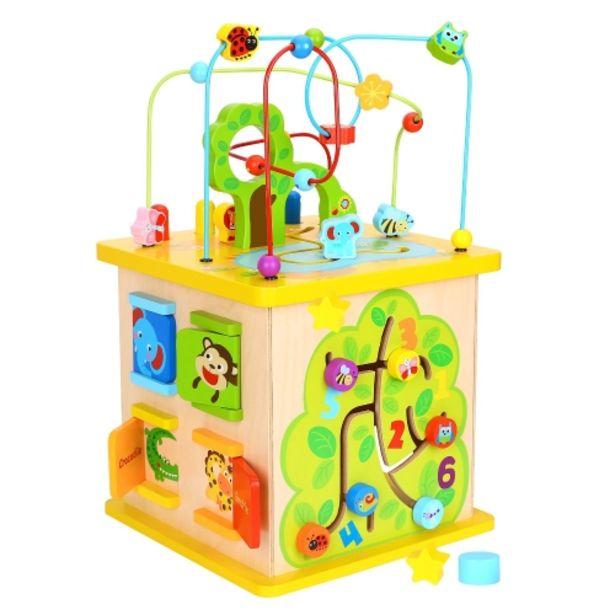 Oferta de Cubo de madera con actividades para el bebé. por 69,95€