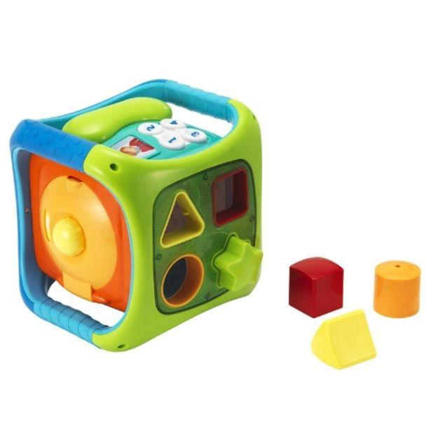 Oferta de Cubo de piezas encajables con sonido y luz por 32,95€