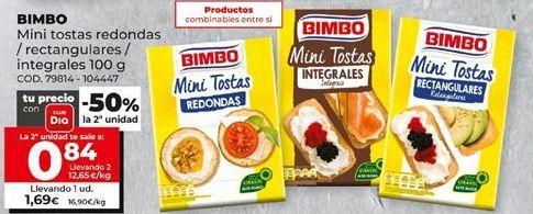 Oferta de Tostadas Bimbo por 1,69€